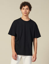 T-Shirt En Coton : HCollectionHiver couleur Noir