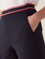 Pantaloni Linea Dritta : null colore Blu Marino