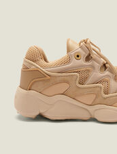 Sneaker in mix di materiali : -50% colore Beige