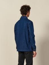 Giacca Da Lavoro In Denim : Collezione Inverno colore Blue Vintage - Denim