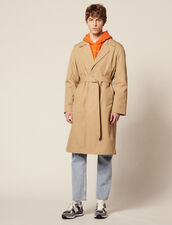 Trench Lungo In Cotone : SOLDES-CH-HSelection-PAP&ACCESS-2DEM colore Beige