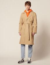 Trench Lungo In Cotone : Trench & Cappotti colore Beige