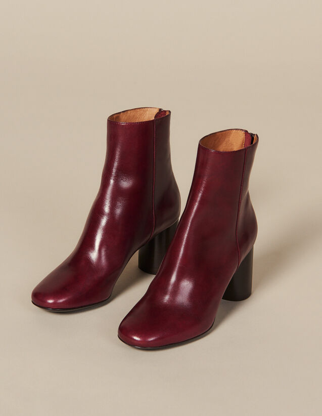 Bottines en cuir : FBlackFriday-FR-Selection-Chaussures couleur Bordeaux