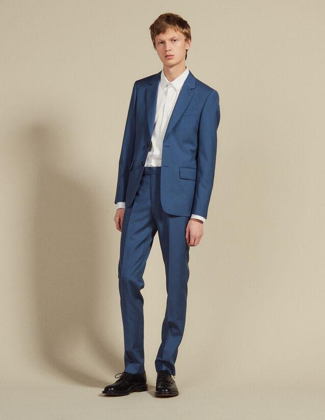 Pantalon De Costume En Laine : LastChance-FR-H50 couleur Gris Bleuté
