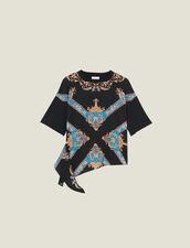 T-shirt con inserto a stampa piazzata : Magliette colore Nero