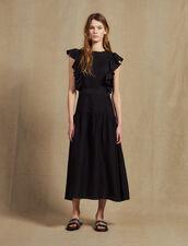 Robe Longue Fluide Sans Manches : null couleur Noir