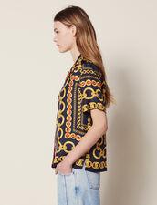 Camicia Stampata A Maniche Corte : LastChance-FR-FSelection colore Blu Marino