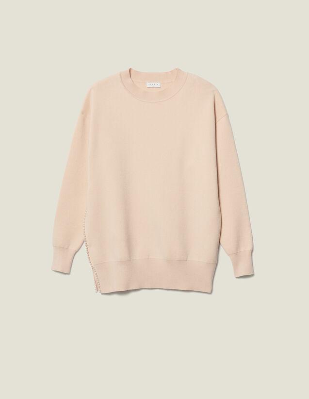 Pullover con spacco ricamato di perle : VP-ES-FBest-sellers colore Beige