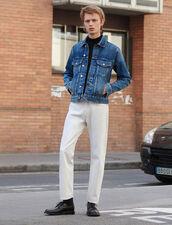 Jeans Bianchi Linea Dritta : SOLDES-CH-HSelection-PAP&ACCESS-2DEM colore Bianco