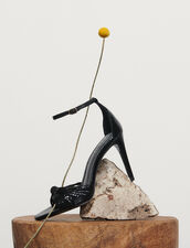 Sandali in pelle goffrati : Tutte le Scarpe colore Nero
