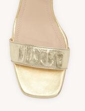 Sandali in pelle goffrati coccodrillo : Tutte le Scarpe colore Oro