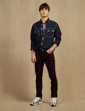 Jeans Slim In Tela Di Cotone : Sélection Last Chance colore Nero