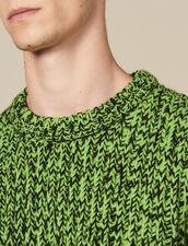 Pullover In Maglia Mouliné : Maglioni & Cardigan colore Vert/Noir