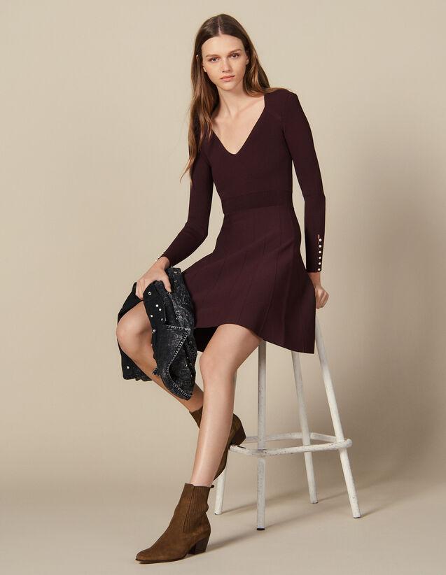 Vestito In Maglia Con Bottoni Gioiello : Abiti colore G014