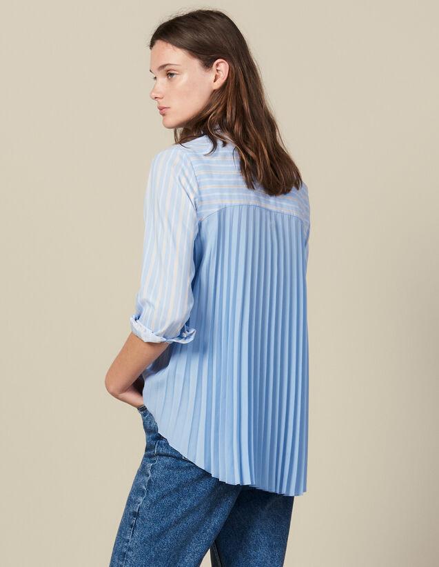 Camicia Asimmetrica Inserto Plissettato : FBlackFriday-FR-FSelection-30 colore Ciel