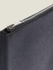 Portadocumenti Con Zip In Pelle Saffiano : Collezione Estiva colore Nero