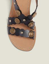 Sandali Con Tacco E Dettaglio Rivetti : Tutte le Scarpe colore Nero