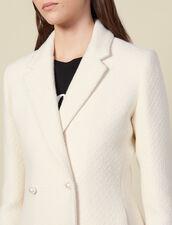 Giacca in tweed ornata da perle : Giacche & Giubbotti colore Ecru