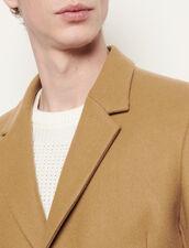 Cappotto lungo a tre bottoni : Trench & Cappotti colore Bordeaux