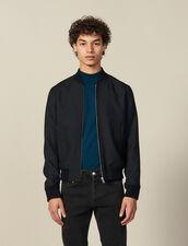 Giubbotto Con Zip Stile Bomber : Giubbotti & Giacche colore Blu Marino