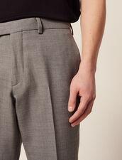 Pantaloni Da Completo In Lana : LastChance-RE-HSelection-Pap&Access colore Grigio Chiaro