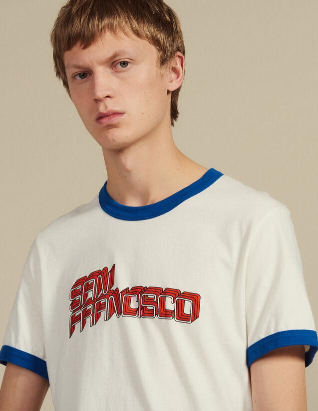 T-Shirt Con Scritta : Magliette & Polo colore Bianco