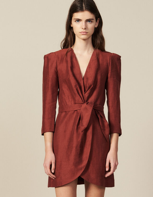Robe Courte Portefeuille : FBest-sellers couleur Wine