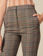 Pantaloni dritti a quadri : Pantaloni colore Multicolore