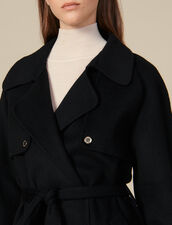 Trench-Coat Double Face En Laine : Manteaux couleur Noir