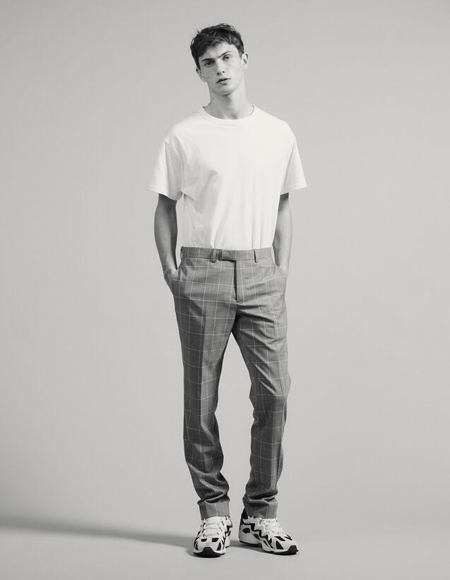 Pantaloni Da Completo Classici Super 120 : Abiti & Smoking colore Grigio Chiaro
