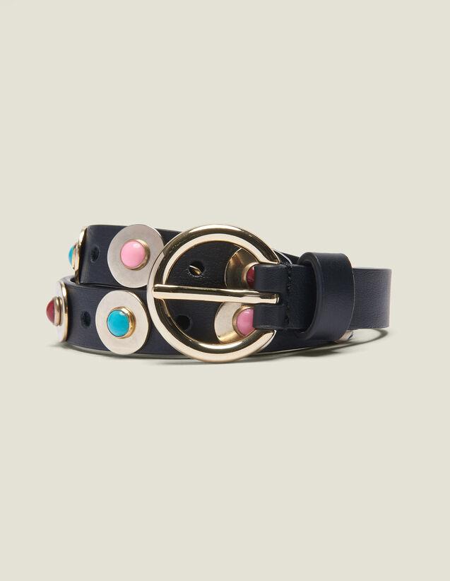 Cintura Con Perle Decorative : Collezione Estiva colore Nero