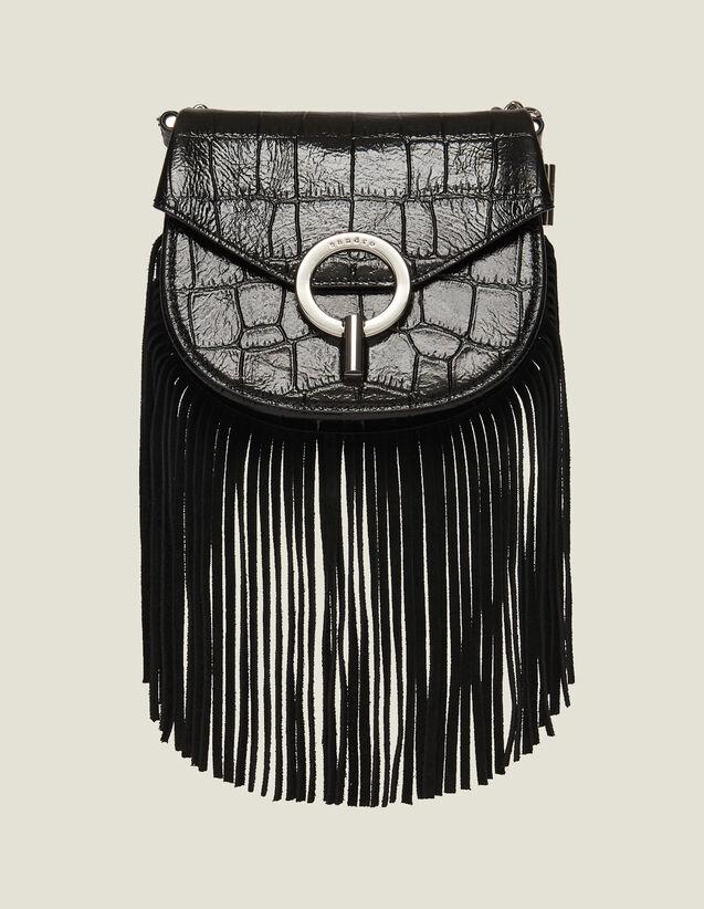 Sac Pépita Petit Modèle Frangé : Tous les Sacs couleur Noir