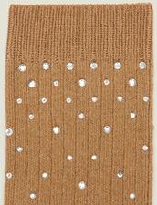 Calzini ornati di strass : L'intera collezione Invernale colore Cammello