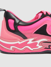 Baskets Flame : LastChance-CH-F20 couleur Rose fluo/noir
