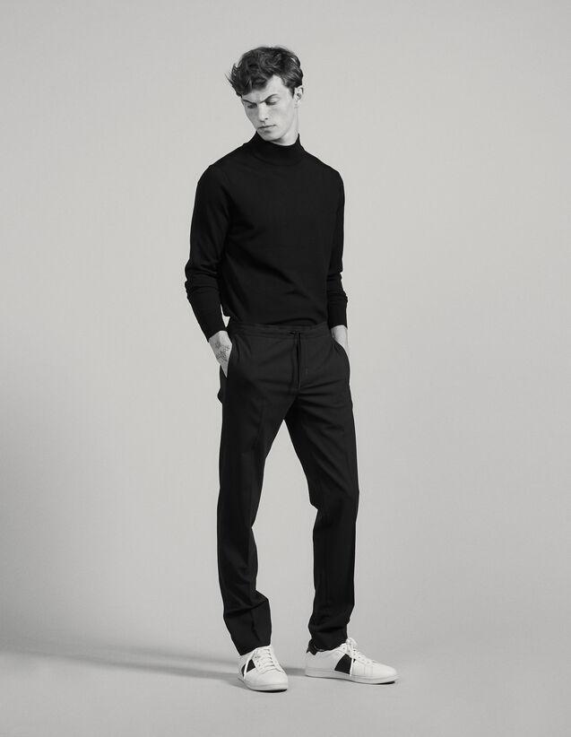 Pantaloni con elastico in vita : Pantaloni & Short colore Nero