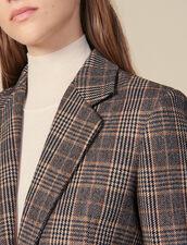 Blazer in lana a quadri : Giacche & Giubbotti colore Cammello