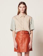 Camicetta A Righe Tricolori : Camicia stampata colore Multicolore