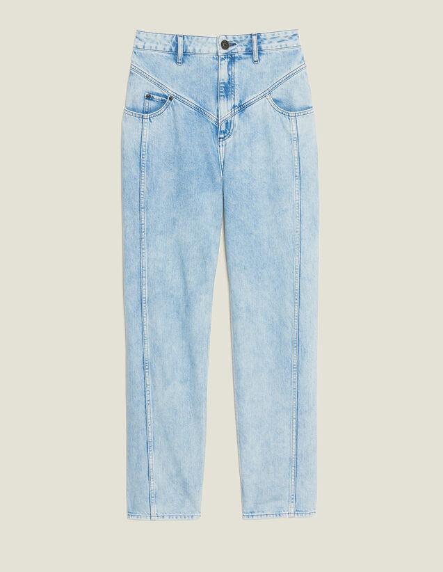 Jeans Délavé Con Inserti : Jeans colore Blue Vintage - Denim