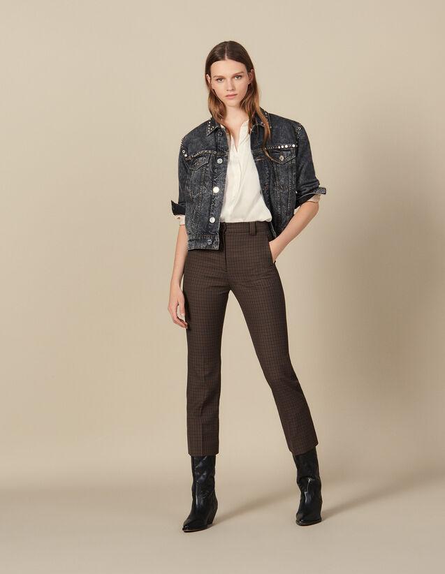 Pantaloni A Quadri : Pantaloni colore Multicolore