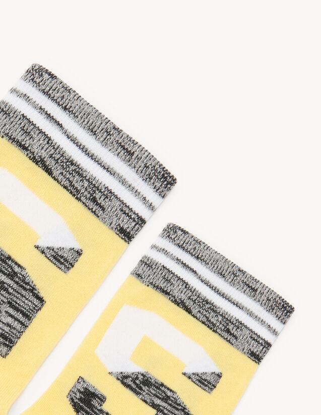 Chaussettes avec logo : Chaussettes couleur Crème