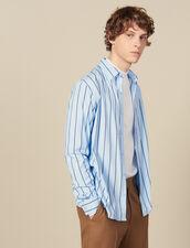 Camicia A Righe : Collezione Inverno colore BLU/NERO