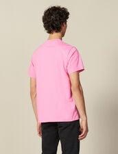 T-Shirt En Coton : HCollectionHiver couleur Rose