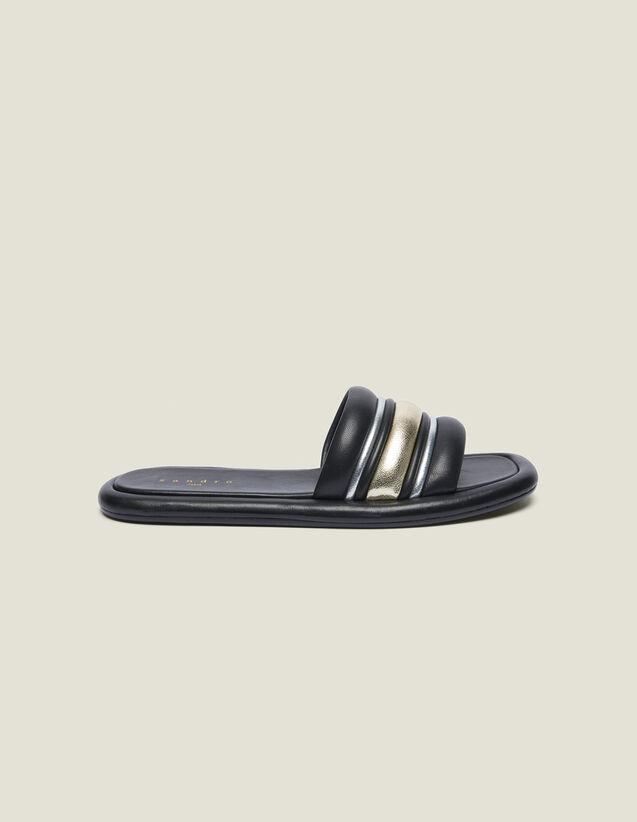 Mule Piatte In Mix Di Materiali : Tutte le Scarpe colore Nero/oro