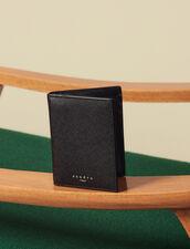 Portafoglio A Libro In Pelle Saffiano : Porta carte & Portafogli colore Nero
