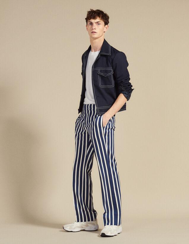 Pantalon À Rayures Contrastantes : Sélection Last Chance couleur Marine
