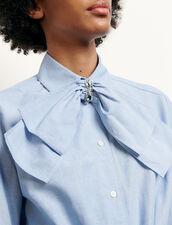 Camicia corta con fiocco amovibile : Top & Camicie colore Ciel