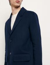 Manteau en laine double face : Trenchs & Manteaux couleur Marine
