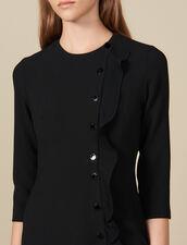 Robe courte portefeuille : Robes couleur Noir