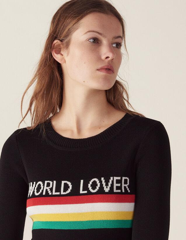 Pullover A Righe Colorate : Maglieria & Cardigan colore Nero