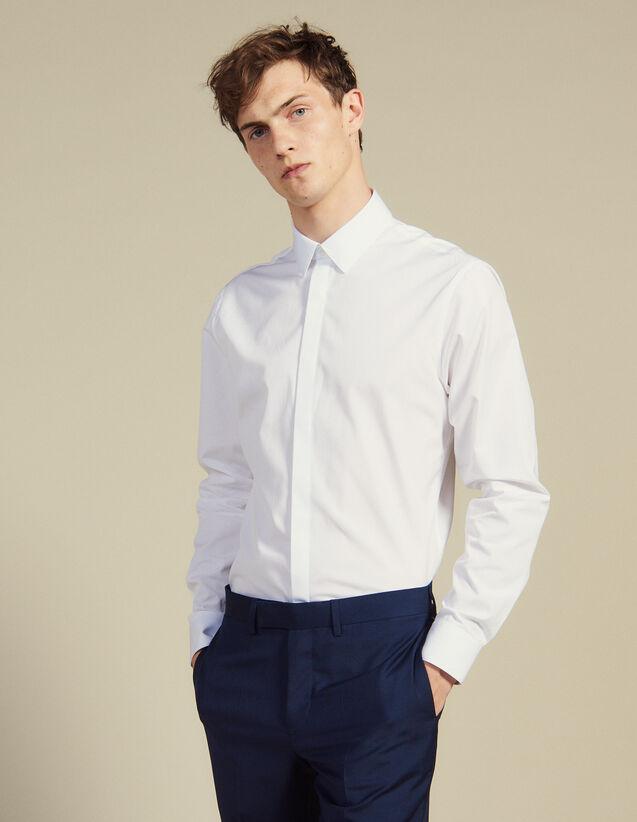 Camicia In Popeline : Camicie colore Bianco